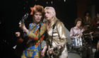 "Mick ""Woody"" Woodmansey, drums, performing with David Bowie and Mick Ronson"