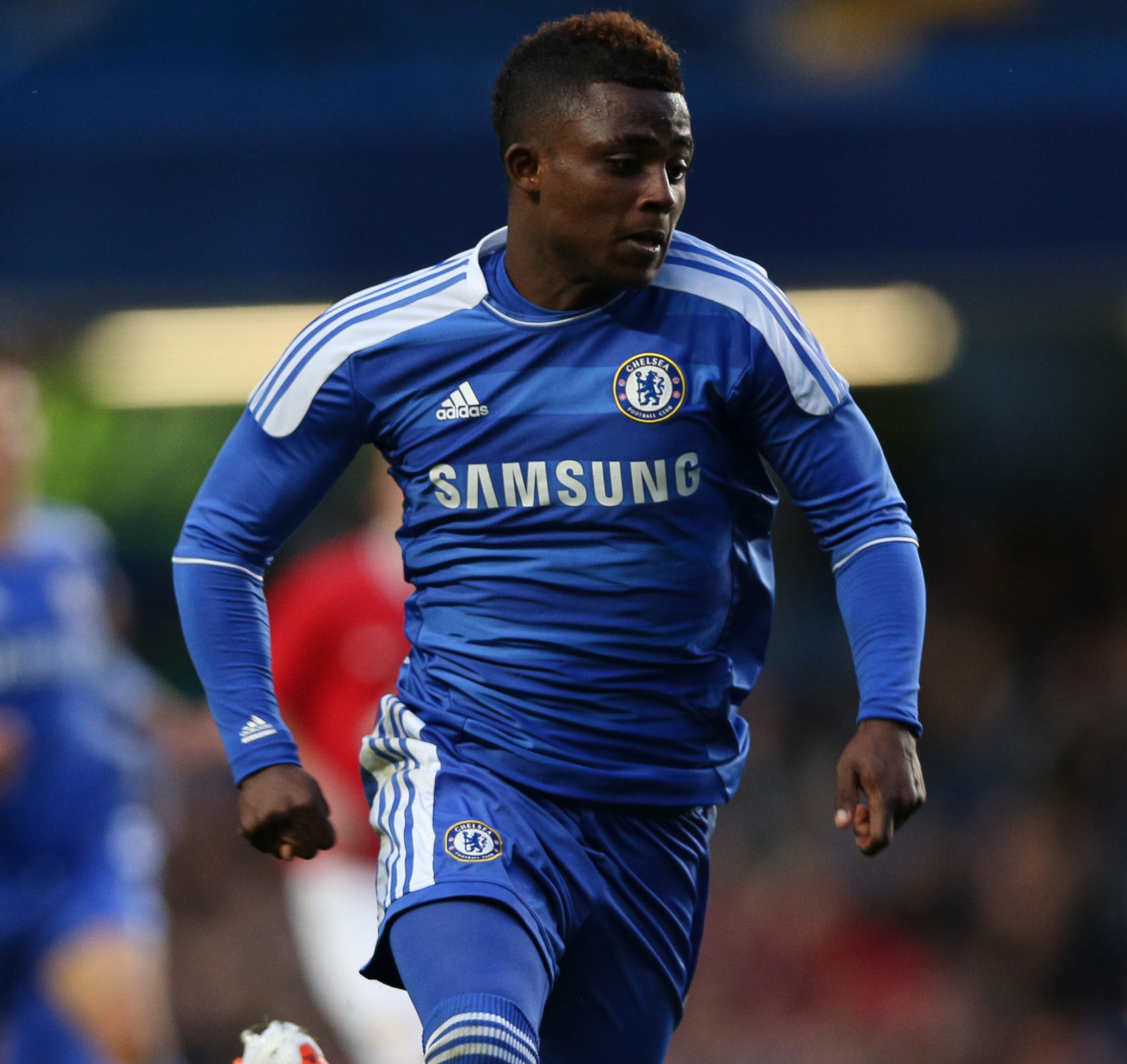 Islam Feruz playing for Chelsea's youth side in 2012, aged just 16