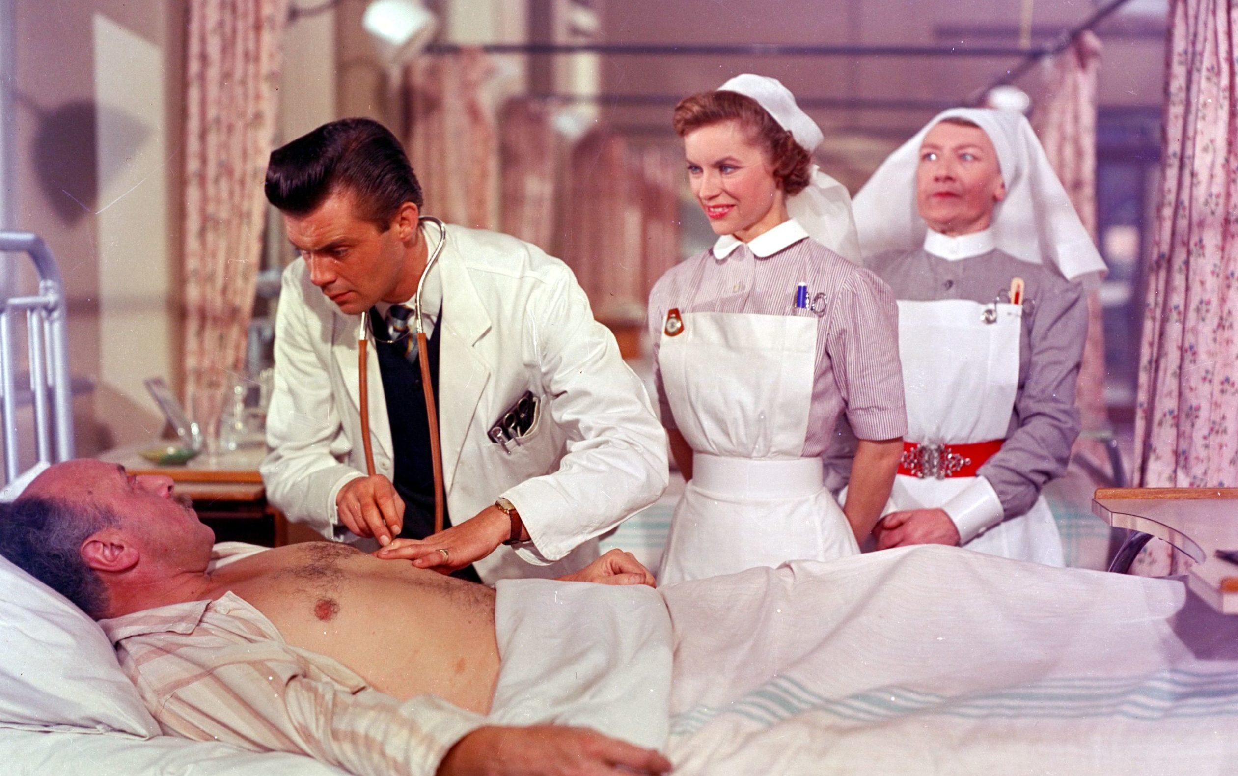 Dirk Bogarde in the original film version of Doctor In The House