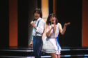 Sally Ann with Stephen Fischer as Bardo in the Eurovision Song Contest in 1982