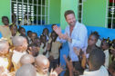 Gerard Butler in Haiti helping the school feeding charity Mary's Meals