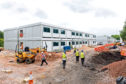 Kensington Aldridge Academy under construction in 2017 - it took just nine weeks to be built