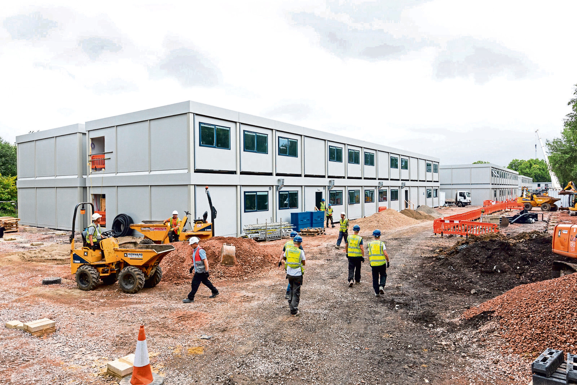 Kensington Aldridge Academy under construction in 2017 - it took just nine weeks to be built