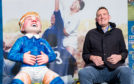 Doddie Weir with Oor Doddie at the handover of the statue at Murrayfield back in December