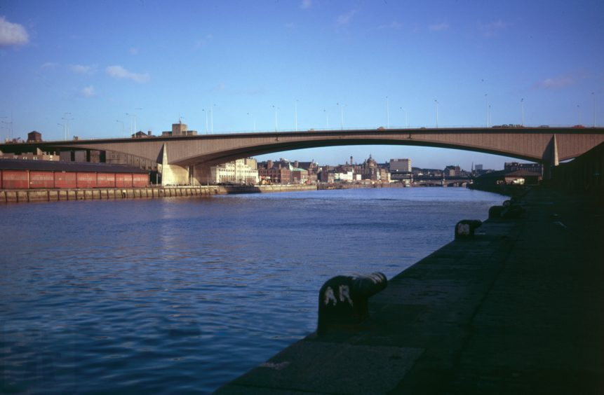 The bridge after opening in 1970