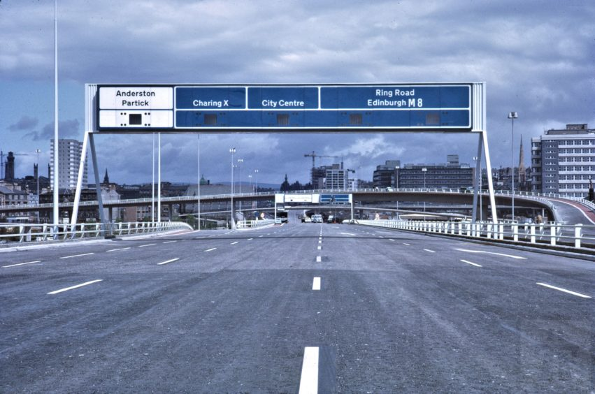 The bridge prepares for opening