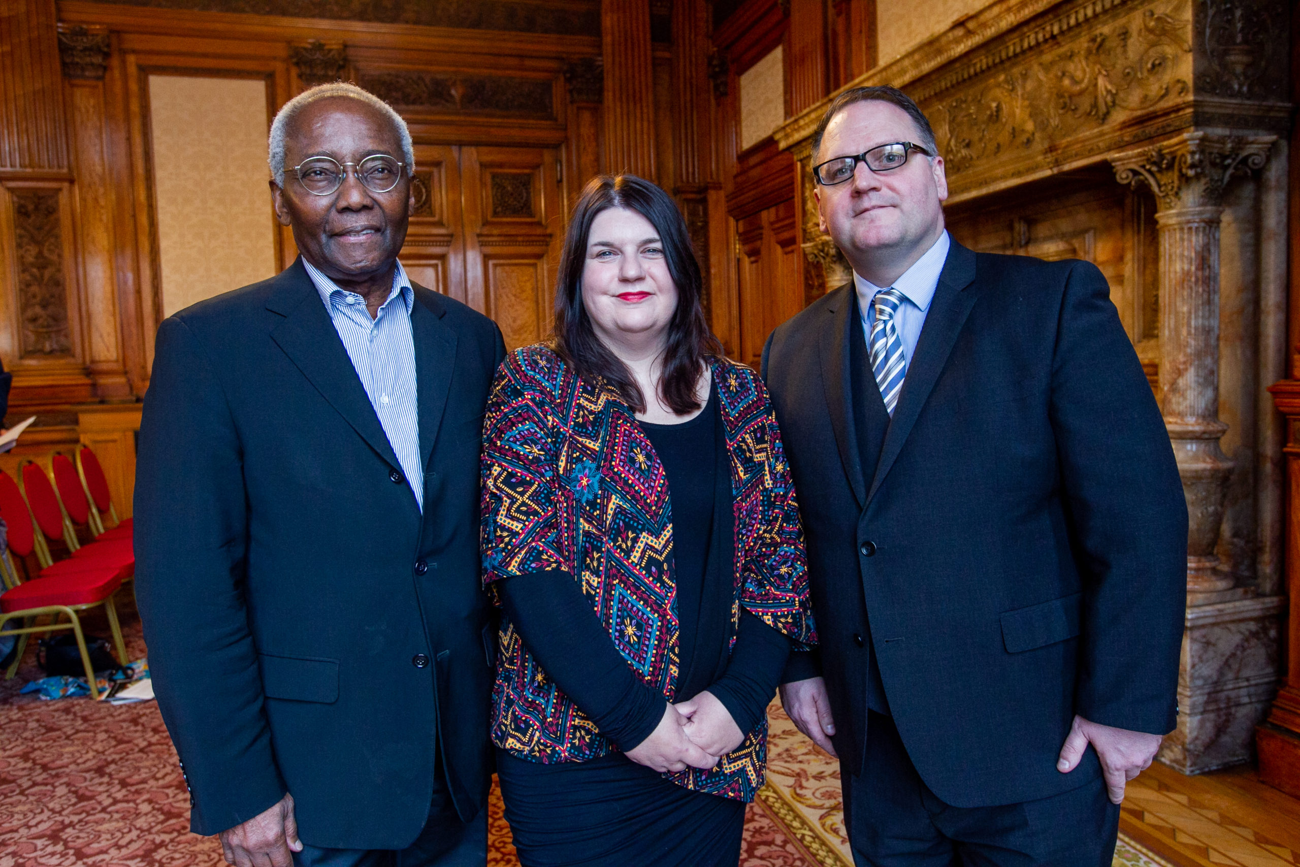 Sir Geoffrey Palmer, Susan Aitken and Stephen Mullen at the launch of the study at Glasgow City Chambers in October last year