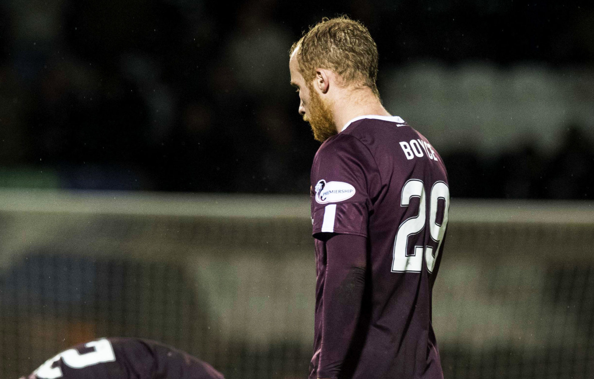 Hearts' Liam Boyce troops off after losing 1-0 to St Mirren in Paisley on March 11. The result that ultimately looks like sending the Jambos down