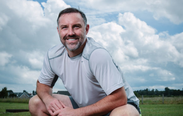 Former Rangers and Kilmarnock star Kris Boyd training for a charity run