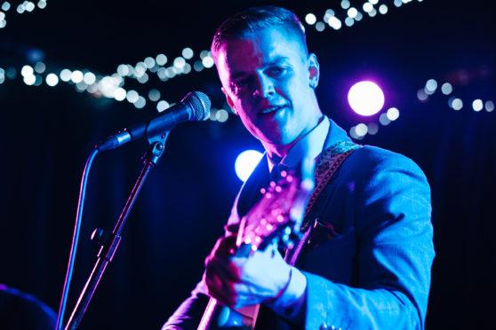 Luke La Volpe on stage in February