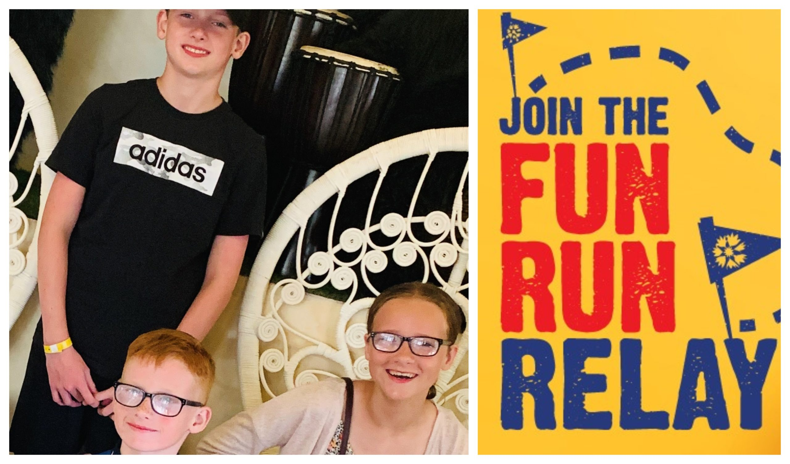 The McGaw children are taking part in the Fun Run Relay