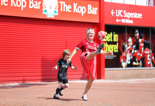 Thirty years on from Kenny Dalglish lifting the league trophy, generations of Liverpool fans were celebrating outside Anfield, some more energetically than others
