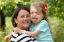 Judith Davis with Hannah, seven, last week