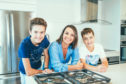 Dietitian Joanna McMillan  and her teenage sons Oliver and Lewis