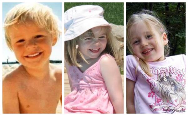 Police are probing links between the disappearances of Rene Hasee, left, Inga Gehricke, right, and Madeleine McCann