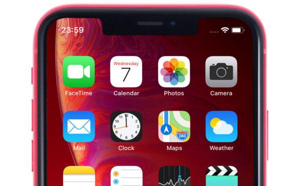 An iPhone XR