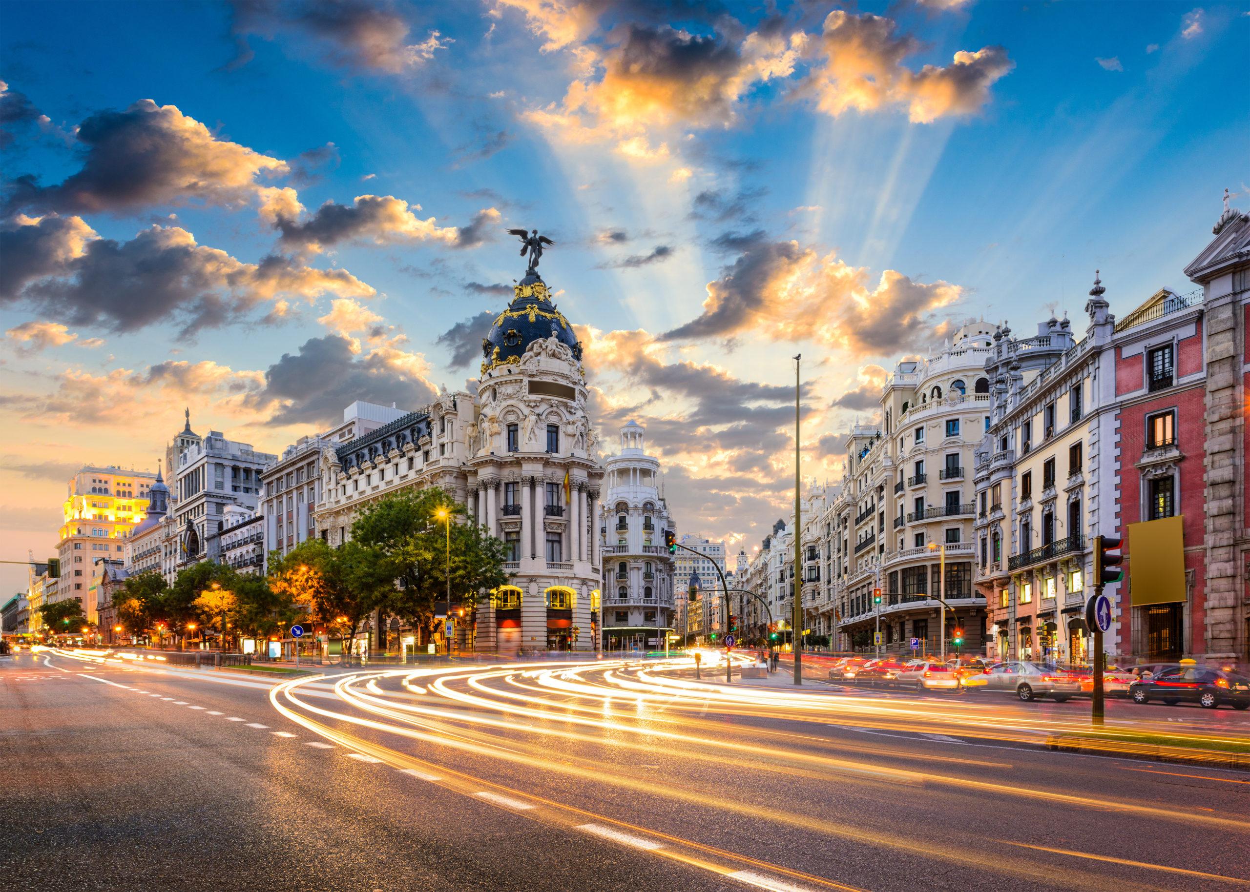Calle de Alcala and Gran Via, Madrid