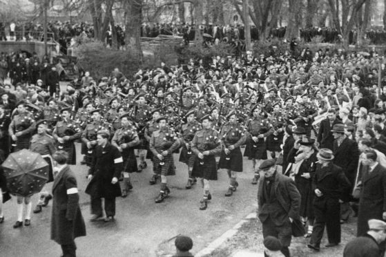 Celebrations after St Valery is recaptured in 1944