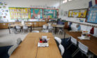 An empty classroom at Manor Park School and Nursery in Knutsford, Cheshire
