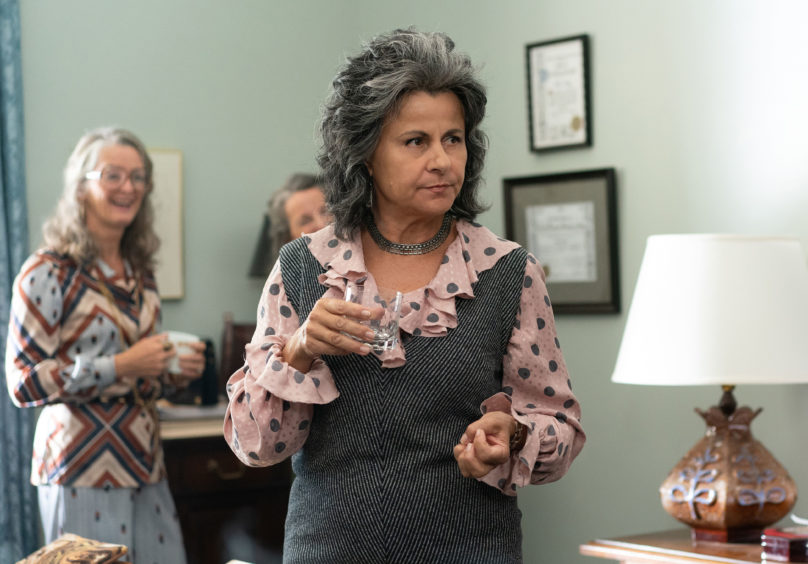 Betty Friedan (Tracey Ullman) was credited with sparking a new wave of feminism in the '60s with her book The Feminine Mystique, which examined the plight of the American housewife.