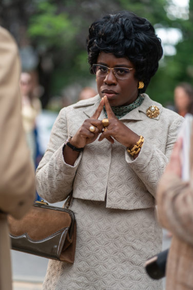 Shirley Chisholm (Uzo Aduba) was the first black woman to seek the presidential nomination for a major political party, running for the Democratic nomination in 1972.