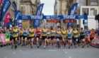 Runners during the Super Saturday family day at The Great Scottish Run