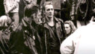 Joe Strummer, right, and Paul Simonon of The Clash at Glasgow School of Art during the band's  two-day busking trip to the city