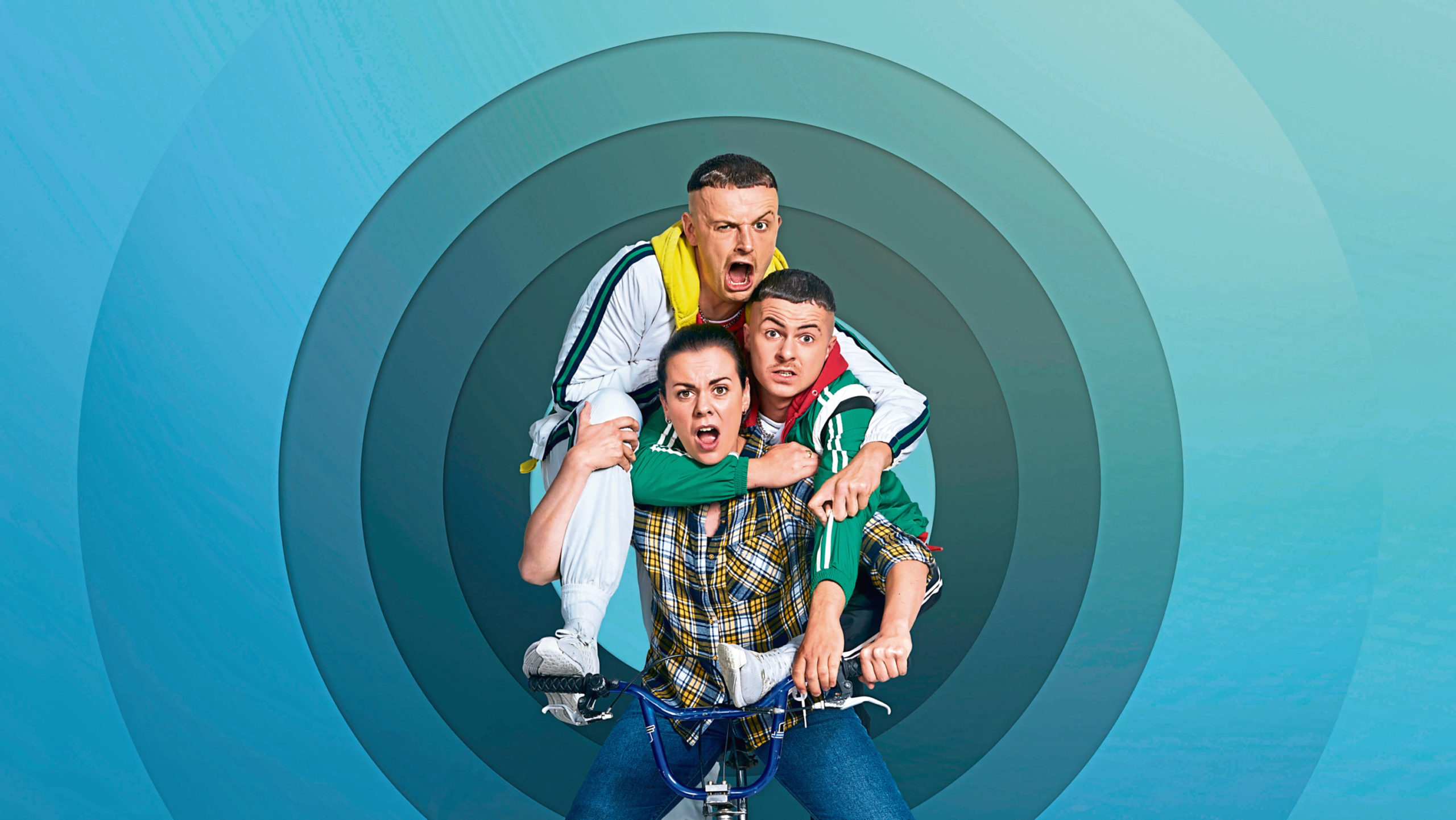The cast of The Young Offenders