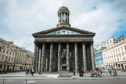 Royal Exchange Square in Glasgow yesterday as families return to the city centre after Covid rules are relaxed