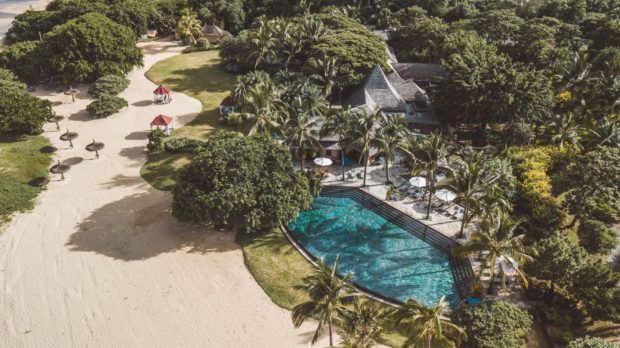 A bird's eye view  of the sunkissed Mauritian resort