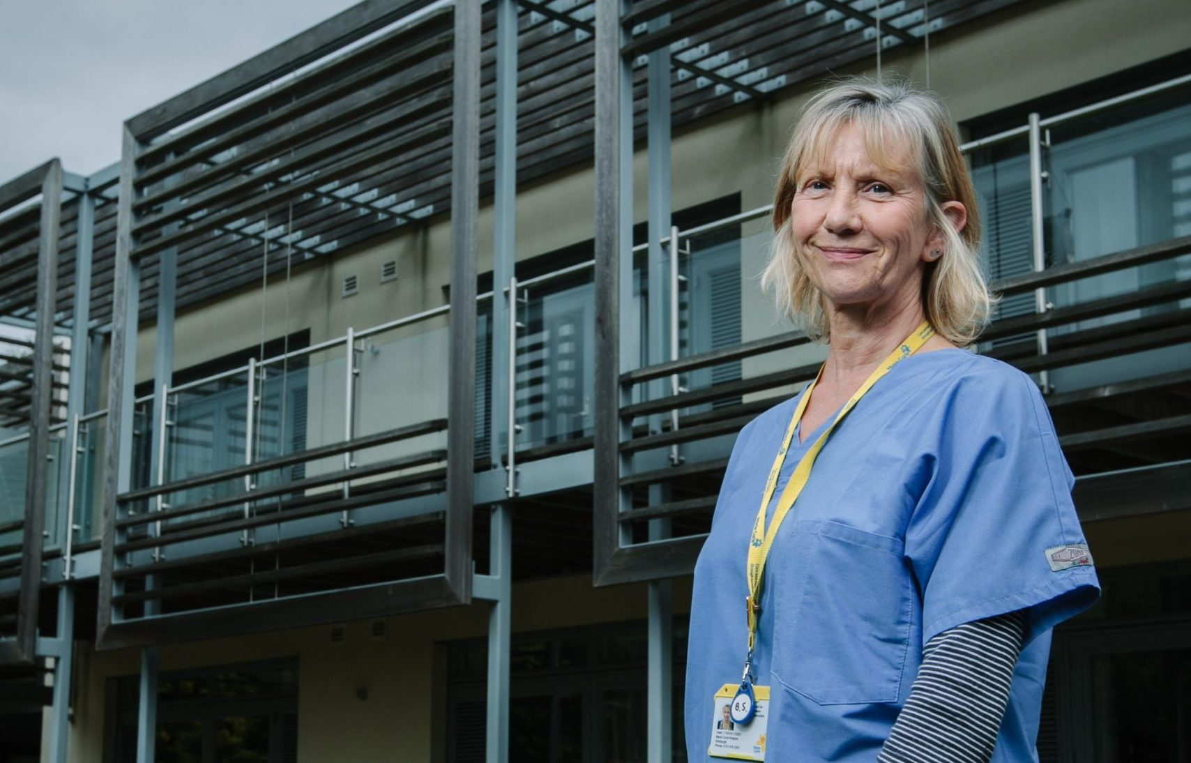 Barbara Stevenson at Marie Curie Hospice, Edinburgh, where she retires at the end of July after 40 years' service