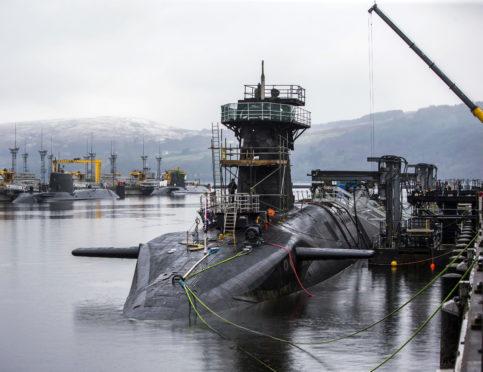 HMS Vanquish berthed at Faslane base