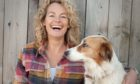 Kate Humble with her Welsh Sheepdog, Teg