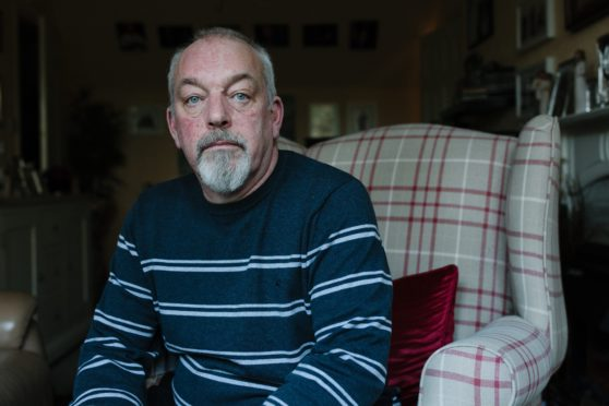 Former yard manager Gary Webb at home in Gatehouse of Fleet
