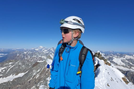 Jules Molyneaux at the summit