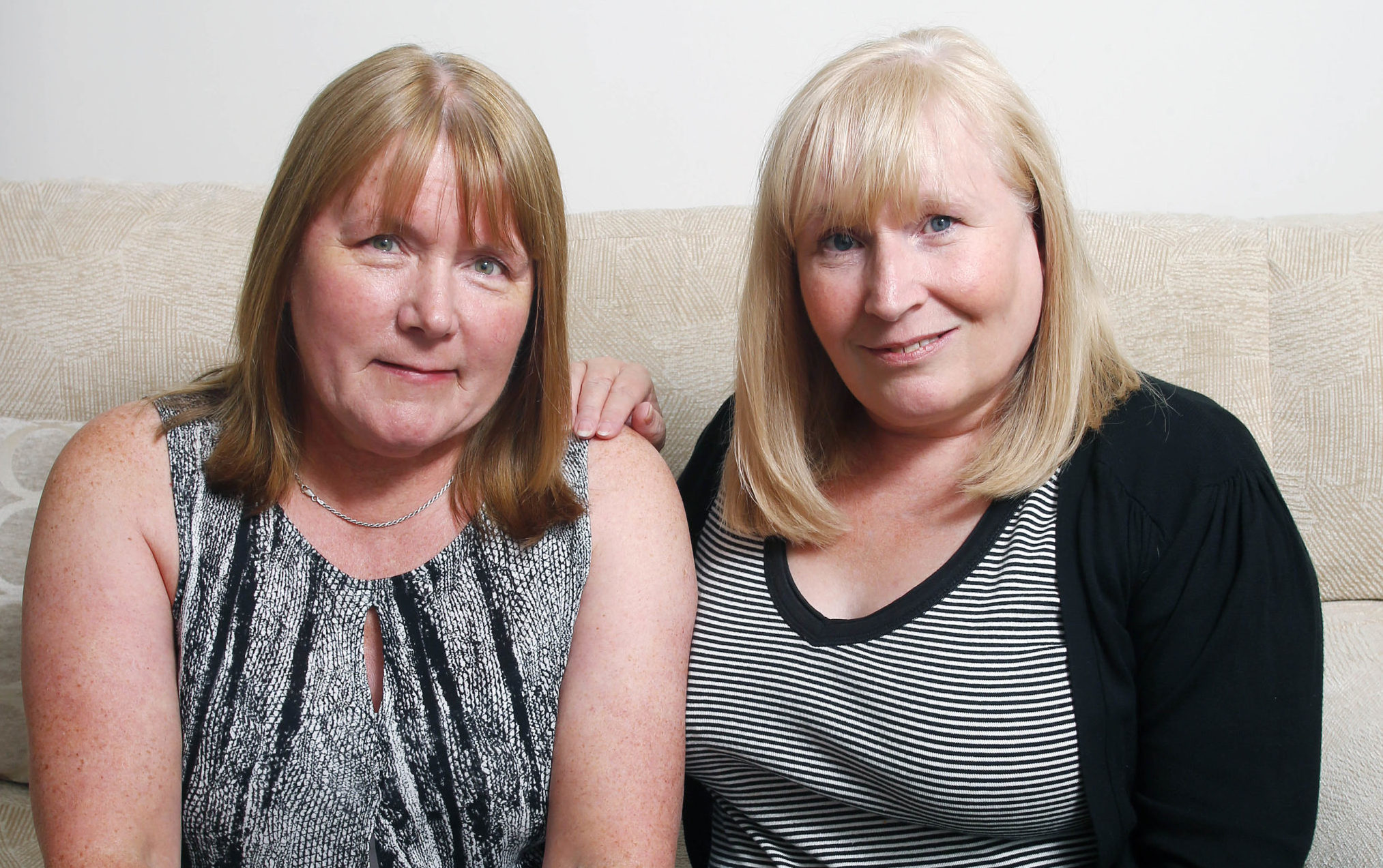Mesh victim and campaigner Elaine Holmes, right, with fellow victim Olive McIlroy