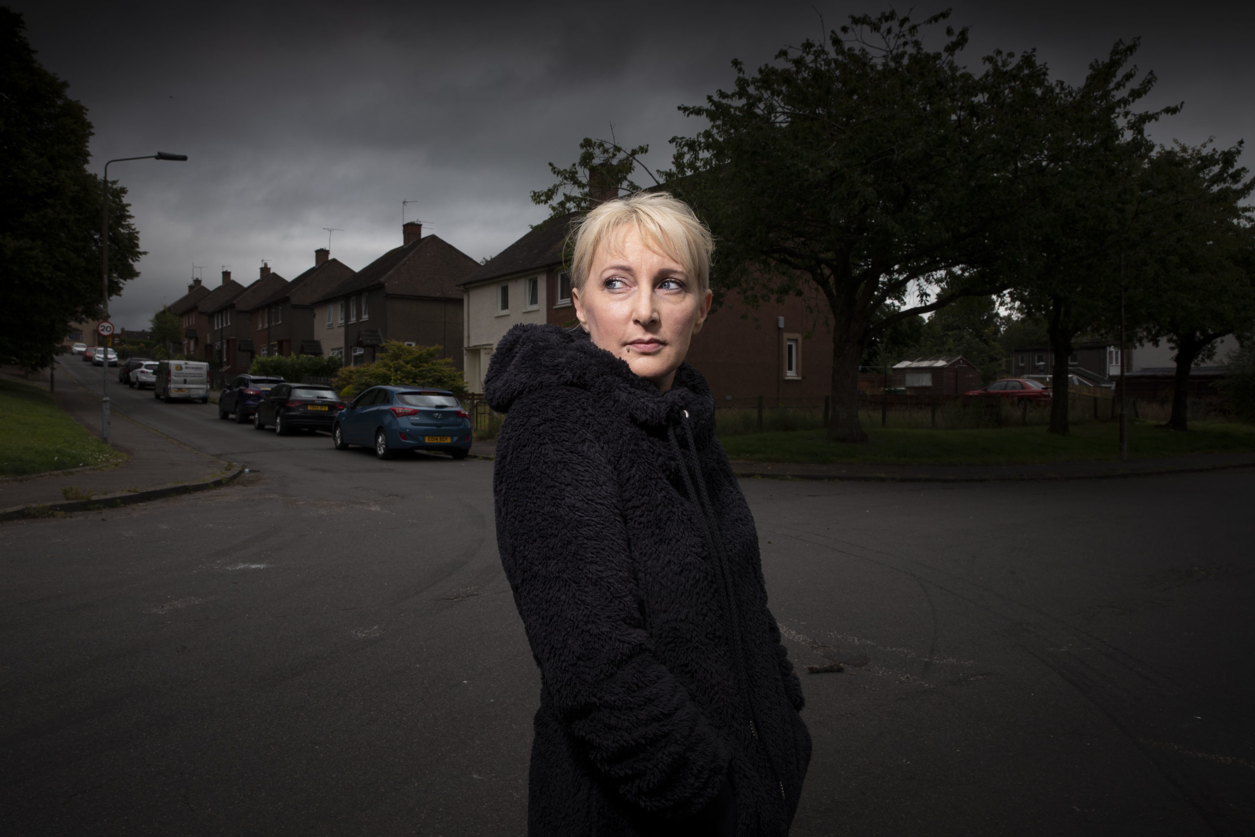 Former resident Nicola Bernard in Park Crescent, Sauchie where her son saw a poltergiest