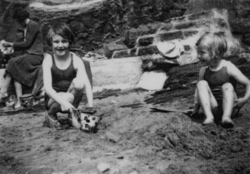 Margaret, left, and Sheila in Pittenweem on holiday