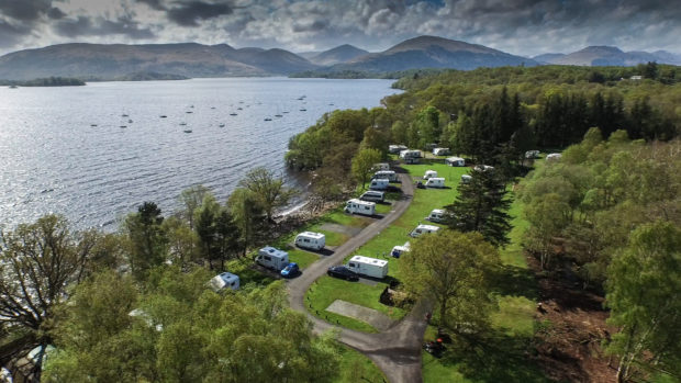 Milarrochy Bay campsite nestles in the Loch Lomond and Trossachs National Park, in the midsts of amazing walks, scenery and wildlife