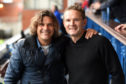 Marco Negri with former Rangers team-mate Jonatan Johansson – the man the Italian credits with discovering Morelos