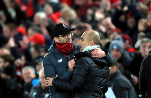 There's a mutual respect between Jurgen Klopp and Pep Guardiola