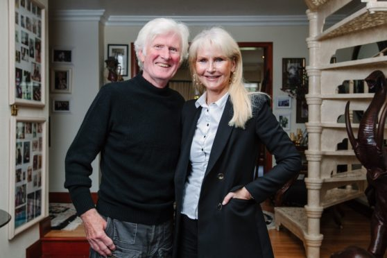 Hairdresser Taylor Ferguson and his wife, Anne