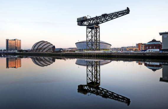 The Finnieston Crane sits alongside other Glasgow landmarks including the Armadillo and SSE Hydro