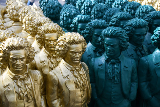 Beethoven sculptures by artist Ottmar Hoerl in Bonn, Germany