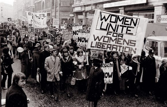 A Women's Liberation march hits the streets in London in 1971
