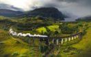 A steam train crosses the famous Glenfinnan Viaduct