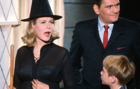Elizabeth Montgomery casts a spell in TV's Bewitched in 1964