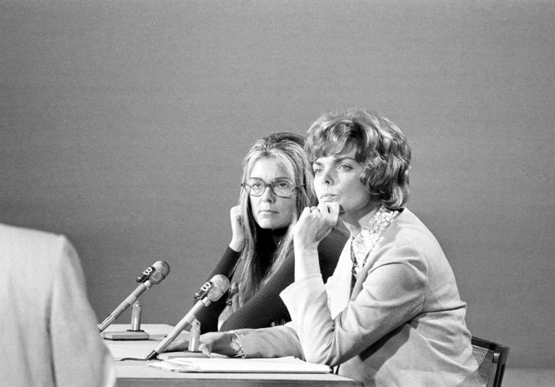 Gloria Steinem, left, and Jill Ruckelshaus