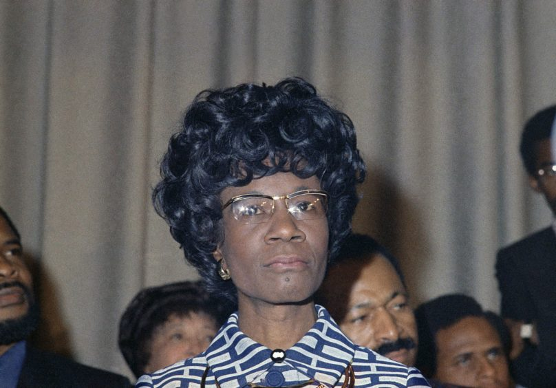 Chisholm was also the first black woman elected to Congress.