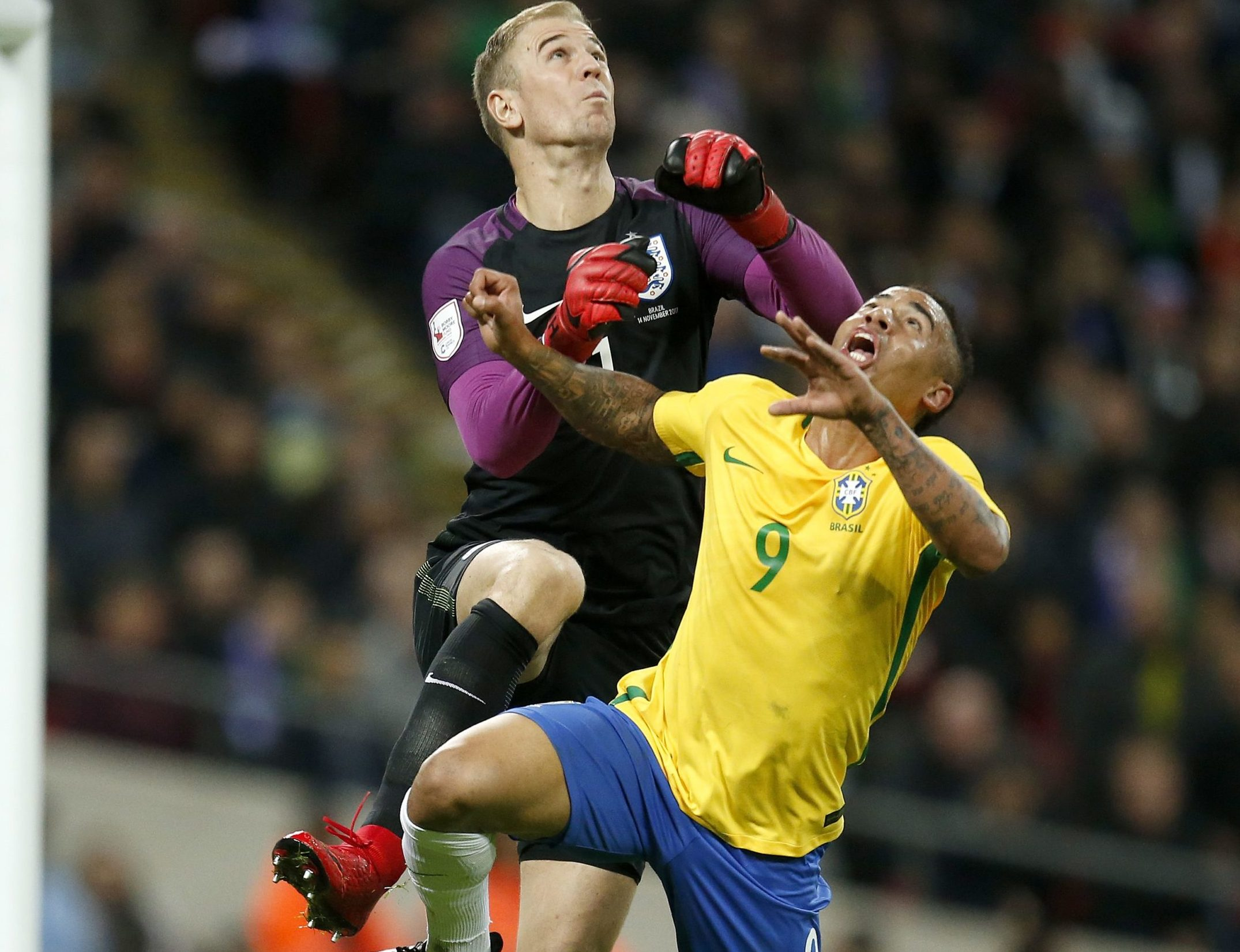 Joe Hart in action for England